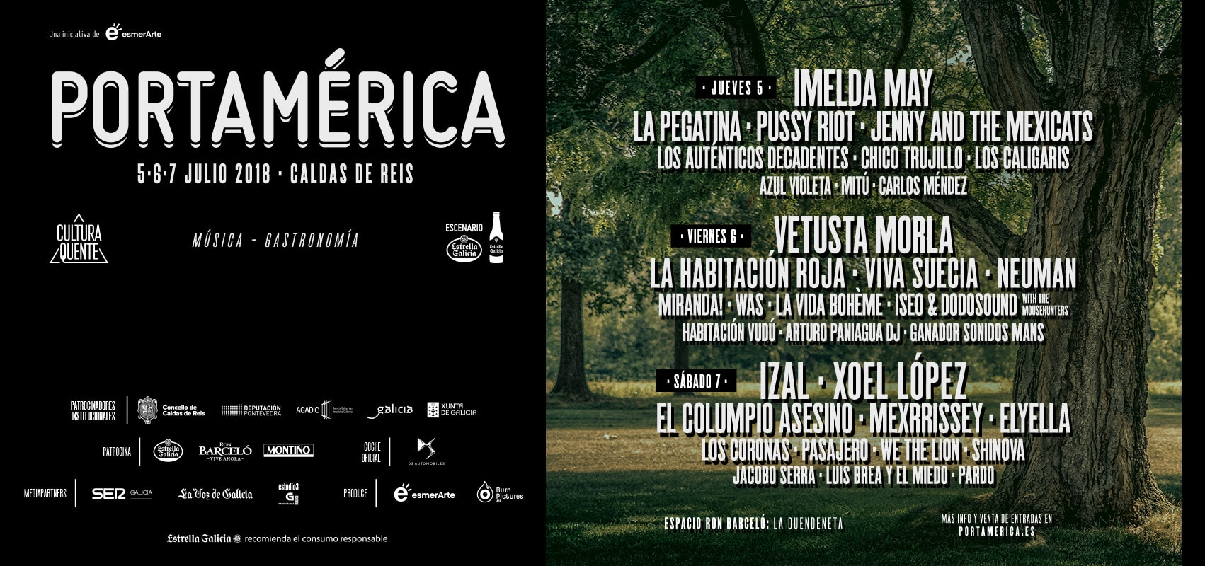 Cartel Festival portAmérica 2018