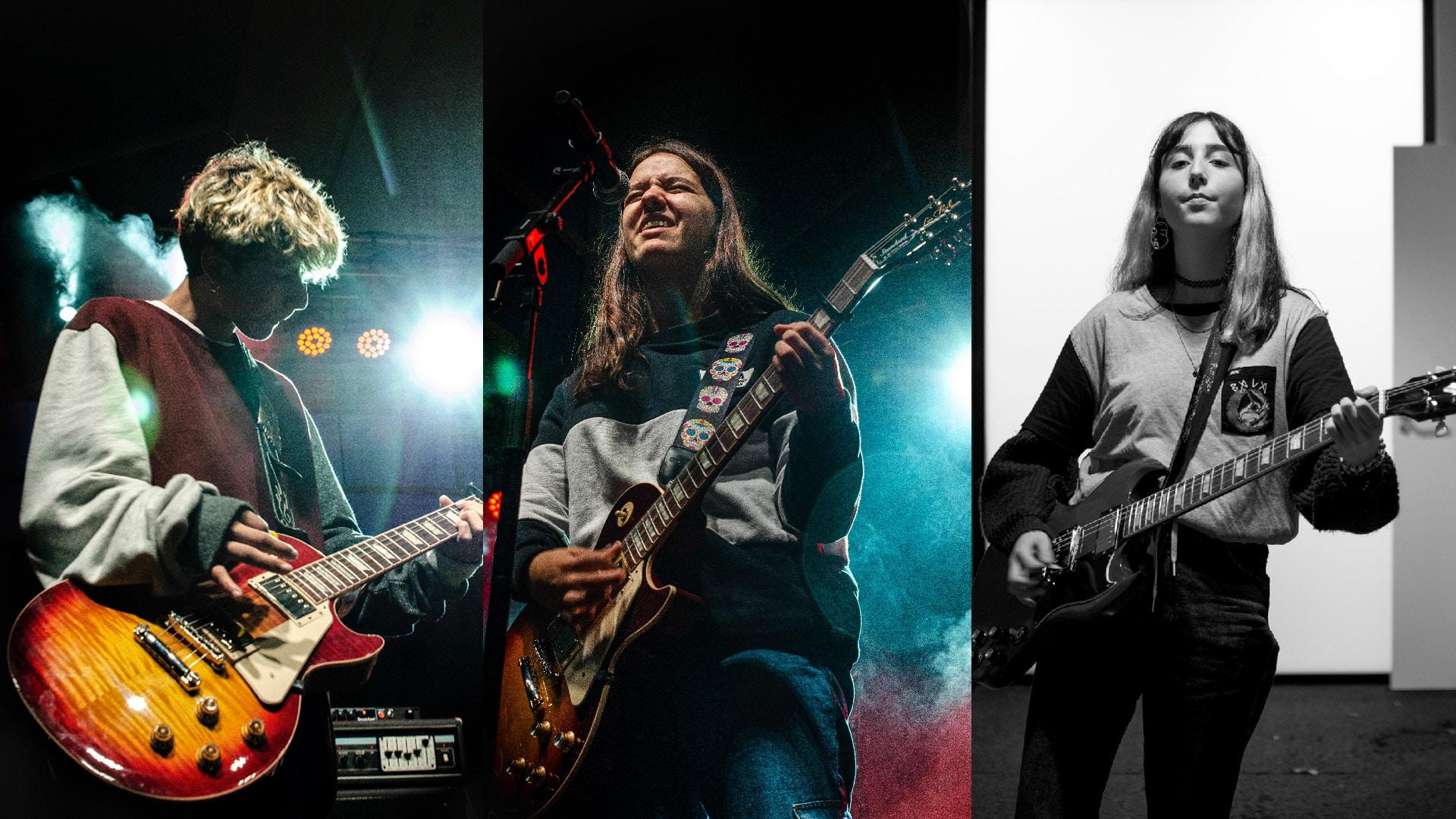 Los 3 guitarristas de Furious Monkey House