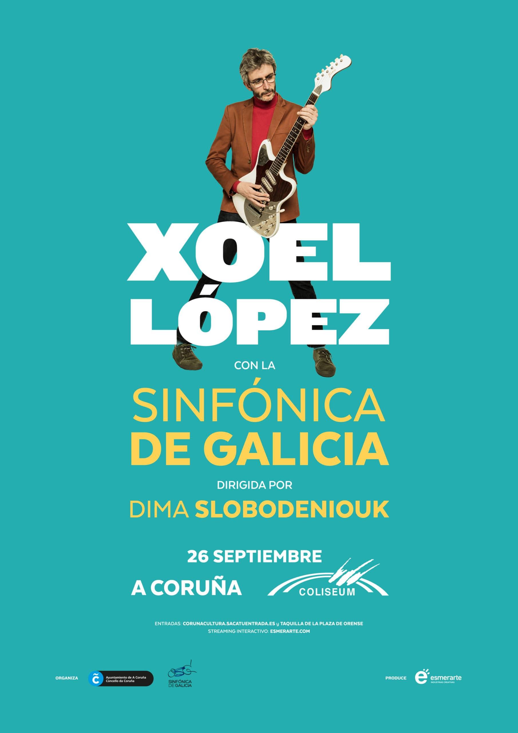 Xoel López con la Orquesta Sinfónica de Galicia